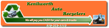 Junk Car Pickup Form for Kenilworth Auto Recyclers Inc. Kenilworth, ON